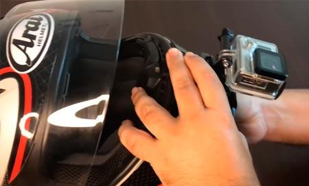 cámara para casco de moto