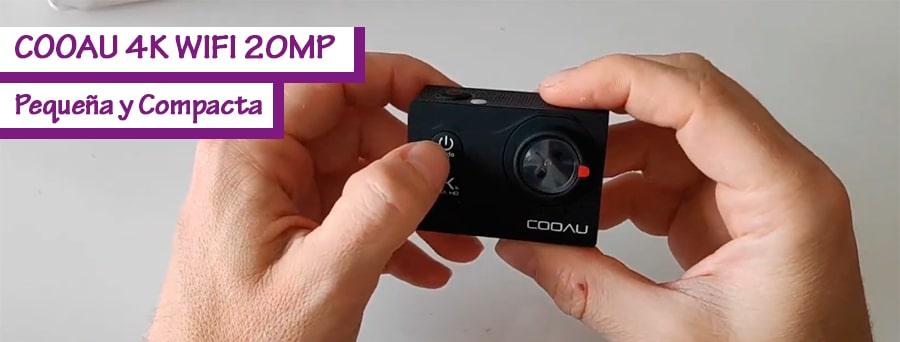 Cooau cámara deportiva 4K WIFI 20MP