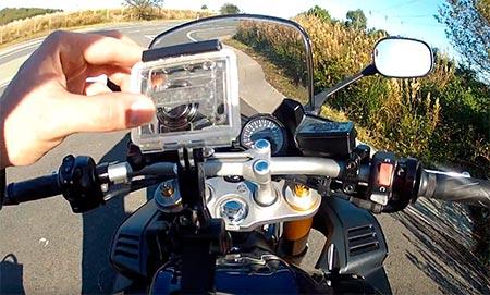 cámara deportiva para manillar moto